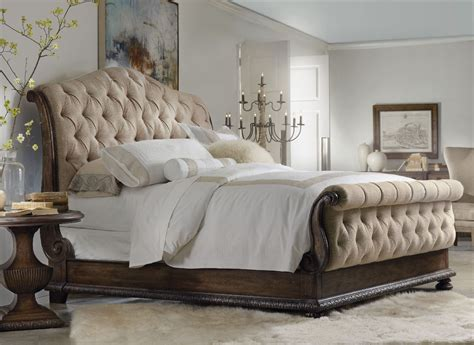 tufted sleigh bed king hooker furniture bedroom rhapsody california king tufted