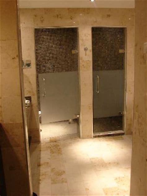 door spa the bathroom toilet glass door on left