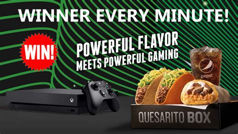 Taco Bell Sweepstakes Xbox - taco bell xbox instant win game xbox one x winner every 10 minutes