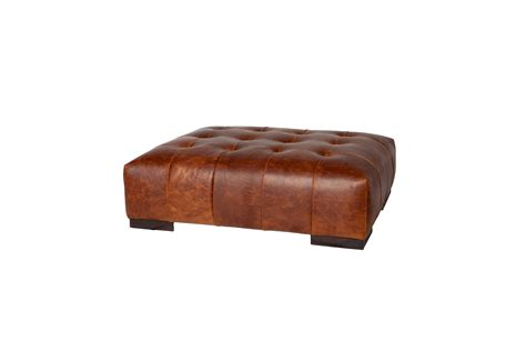 leather hassock ottoman arden ottoman leather