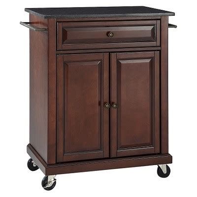 kitchen island cart target solid black granite top portable kitchen cart island crosley target