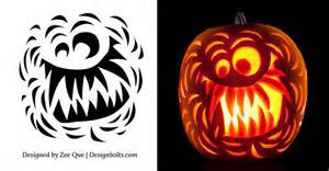 Scary Pumpkin Carving Templates by Free Scary Pumpkin Carving Stencils Patterns