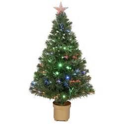 36 inch multi color led fiber optic christmas tree