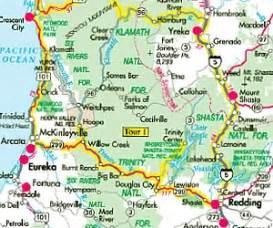 southern oregon northern california map