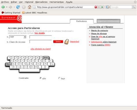 banco de santander es particulares intento de phishing a clientes del banco santander
