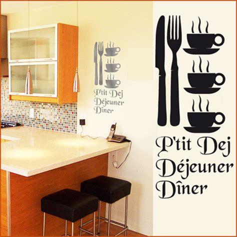 deco stickers cuisine stickers cuisine couverts tasses mots deco cuisine