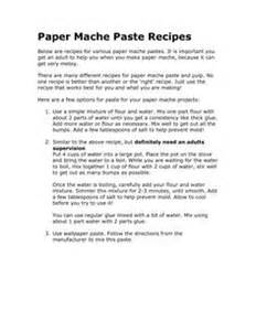 Ingredients To Make Paper Mache - paper mache recipe paper mache and instant