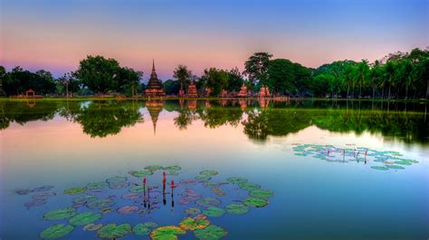 sukhothai historical park thailand wallpapers hd