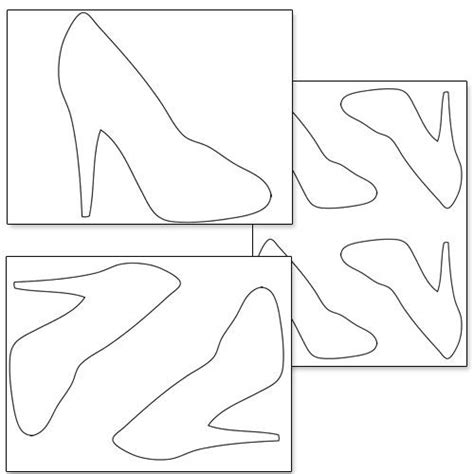 high heel paper shoe template printable high heel shoe template from printabletreats