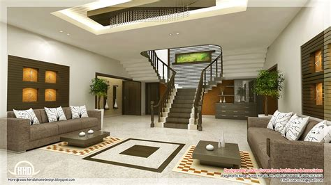 Home Drawing Room Interiors by Awesome 3d Interior Renderings Kerala Home Design And