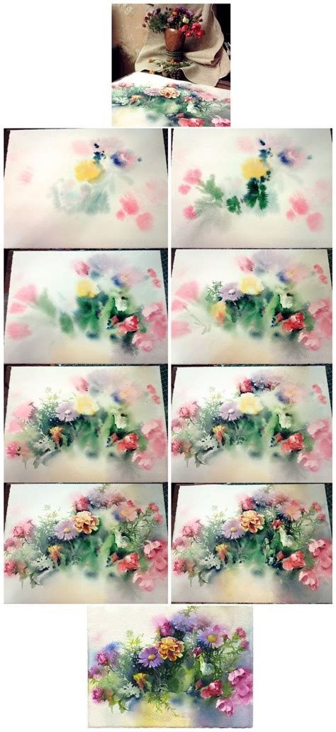 25 best ideas about watercolor flowers tutorial on painting flowers tutorial