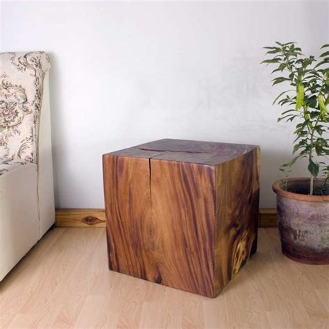natural wood side table natural wood end table