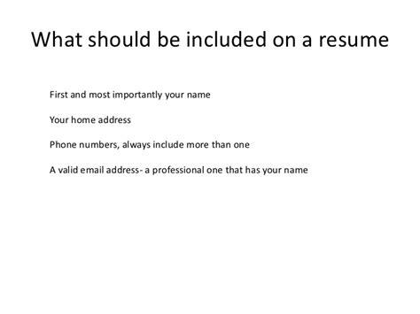 Resume With Address On One Line Computer Literacy How To Write A Resume