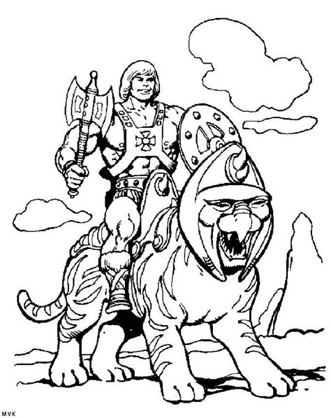 Battle Cats Coloring Pages | he man and battle cat coloring page he man and the