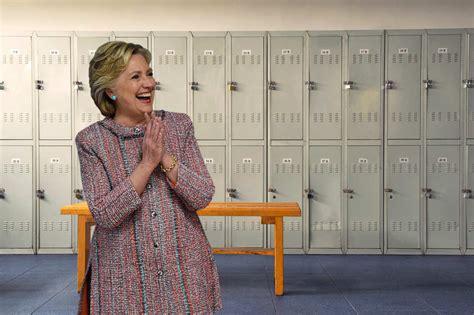 in the locker room clinton s locker room talk