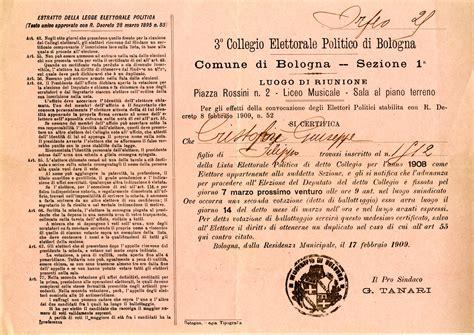 ufficio elettorale bologna cristofori giuseppe storia e memoria di bologna