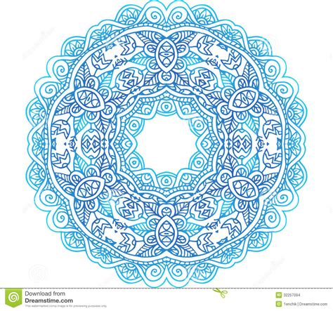 circle pattern vector eps ornate blue lacy vector circle pattern stock vector