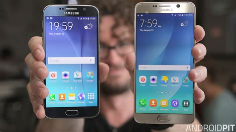 Samsung S6 Note test comparatif samsung galaxy note 5 vs galaxy s6 androidpit