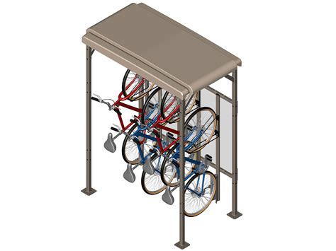 Bike Rack Parking Systems by Wallrack Frame Cyclesafe