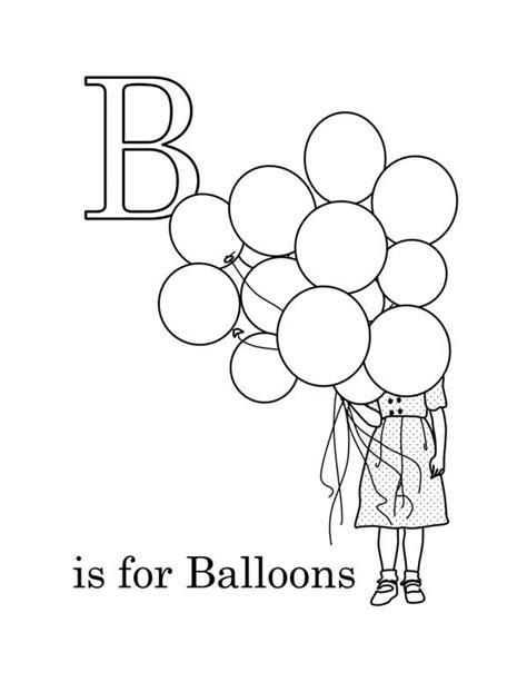 balloons coloring pages preschool preschool kids learn letter b for balloon coloring page