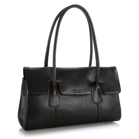 O Bags Leather o s p osprey black leather shoulder bag from osprey
