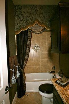 guest bathroom she wanted an elegant drapery as an