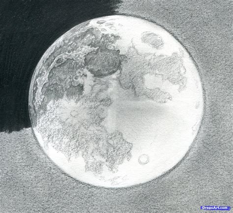 Drawing The Moon by How To Draw The Moon Step By Step Outer Space Landmarks