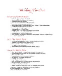 wedding ceremony timeline template sle wedding timeline 7 documents in pdf