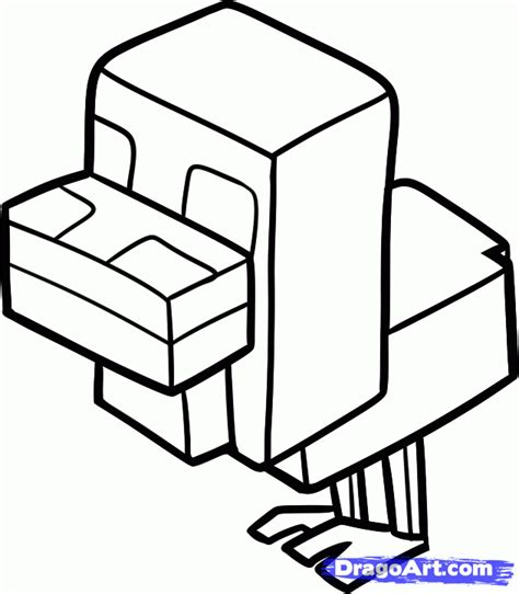 minecraft coloring pages chicken how to draw a minecraft chicken step by step video game