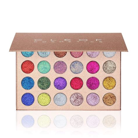 Eyeshadow Colors waterproof pressed glitter eyeshadow palette 24 colors