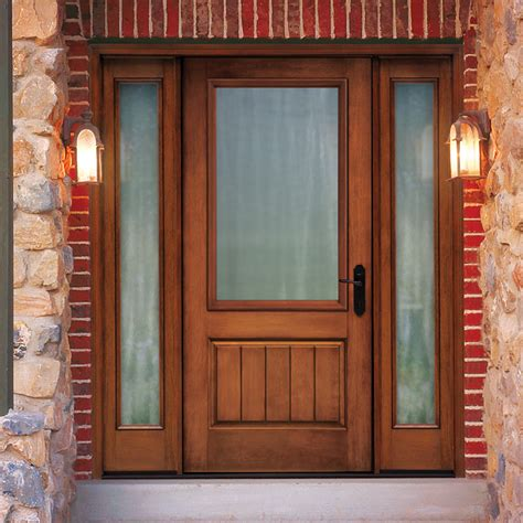 Rustic Fiberglass Exterior Doors Thermatru Classic Craft Rustic Fiberglass Entry Door With Sidelights Ccr205xj Excellent Entry