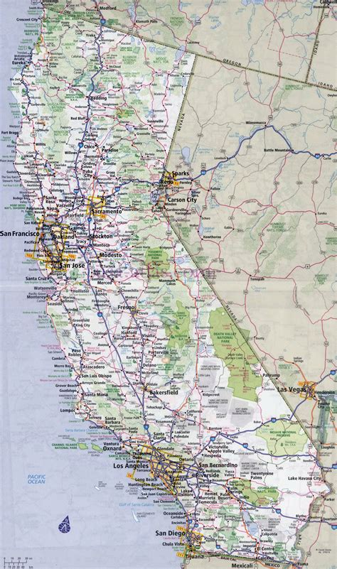 california map of highways large detailed road and highways map of california state