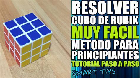 tutorial cubo rubik para principiantes aprende a resolver el cubo de rubik quot muy facil quot tutorial