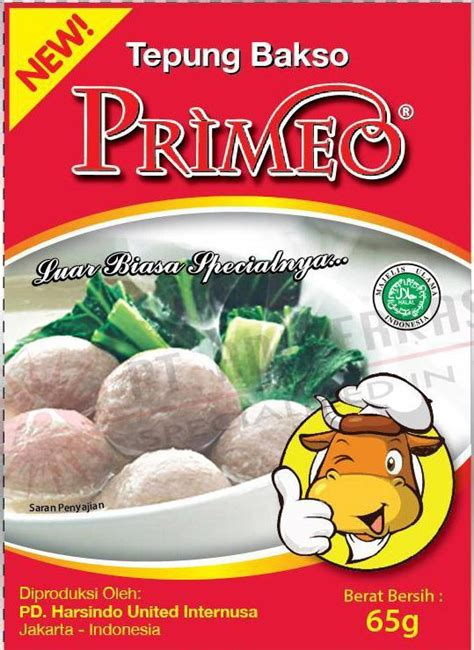 Tepung Bakso jual tepung bakso primeo 65gr harga murah jakarta oleh pt