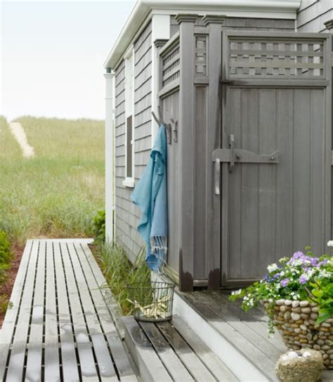 cottage outdoor shower the zhush captivated by the sea