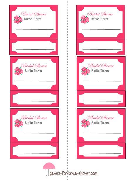 fun printable raffle tickets free printable bridal shower raffle tickets bridal
