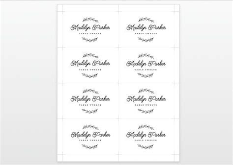 place card template 12 per page 25 best printable wedding place cards ideas on