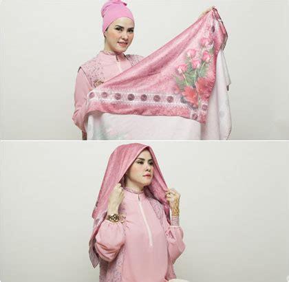 tutorial hijab angel lelga tutorial hijab berpita dengan scarf segiempat ala angel
