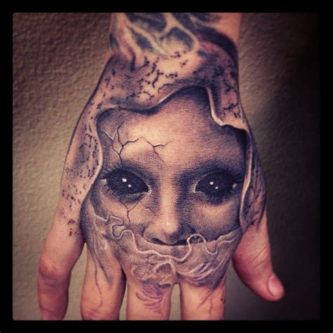 creepy tattoo carl grace designs carlgracetattoo