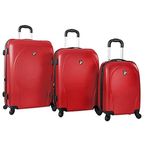 bed bath beyond luggage heys america 3 piece xcase spinner luggage set bed bath