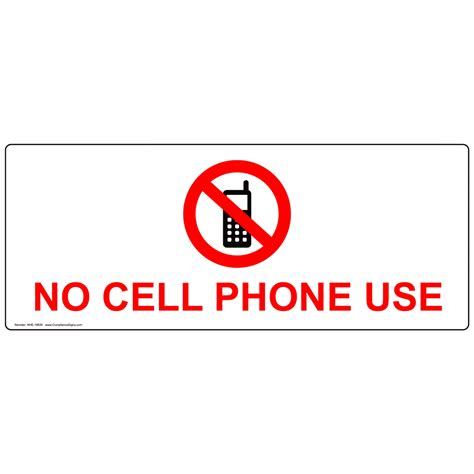 Explanation Letter For Using Cellphone No Cell Phone Use Label Nhe 16935 Cell Phones