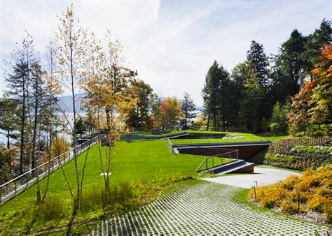 Underground Shelter Designs gluck s stunning lake house is partially buried under a
