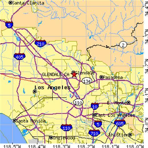california map glendale glendale california ca population data races
