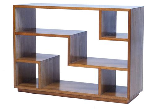 tao small bookcase walnut contemporary