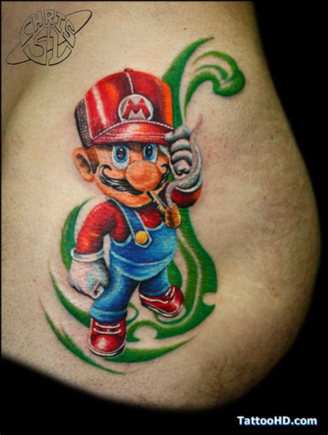 Tattoo Cartoon Mario | cartoon tattoos for women mario tattoo love