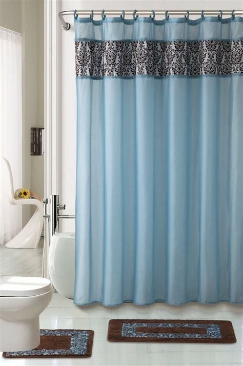 bathroom shower curtain and rug set 4pc bathroom rugs set majestic blue bath rug fabric shower