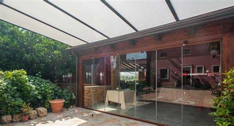 tetto veranda veranda in alluminio con tetto fisso copertura in vetro