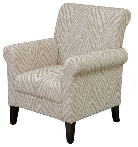 Zebra Accent Chair Percy Zebra Fabric Club Chair Contemporary Armchairs And Accent Chairs By Gdfstudio