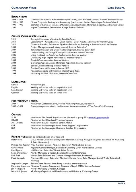 sle of curriculum vitae for thesis 28 images best