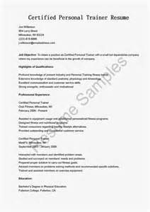 Certified Personall Trainer Cover Letter by Resume Sles Certified Personal Trainer Resume Sle